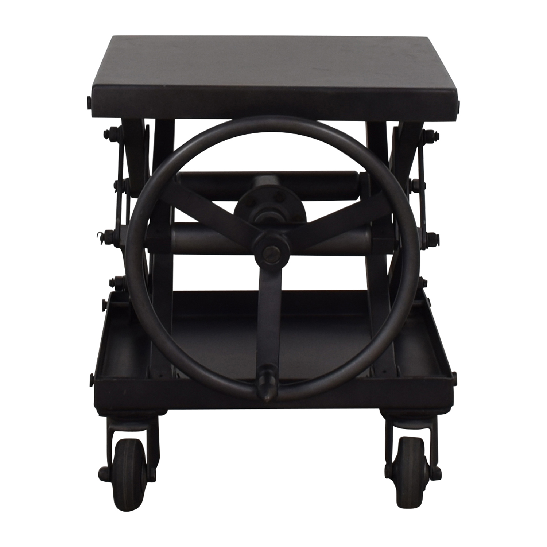66 Off Restoration Hardware Restoration Hardware Industrial Scissor Lift End Table Tables