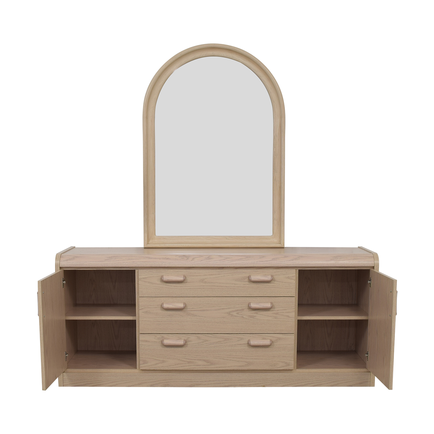 shop Palliser Three Drawer and Two Cabinet Dresser with Mirror Palliser