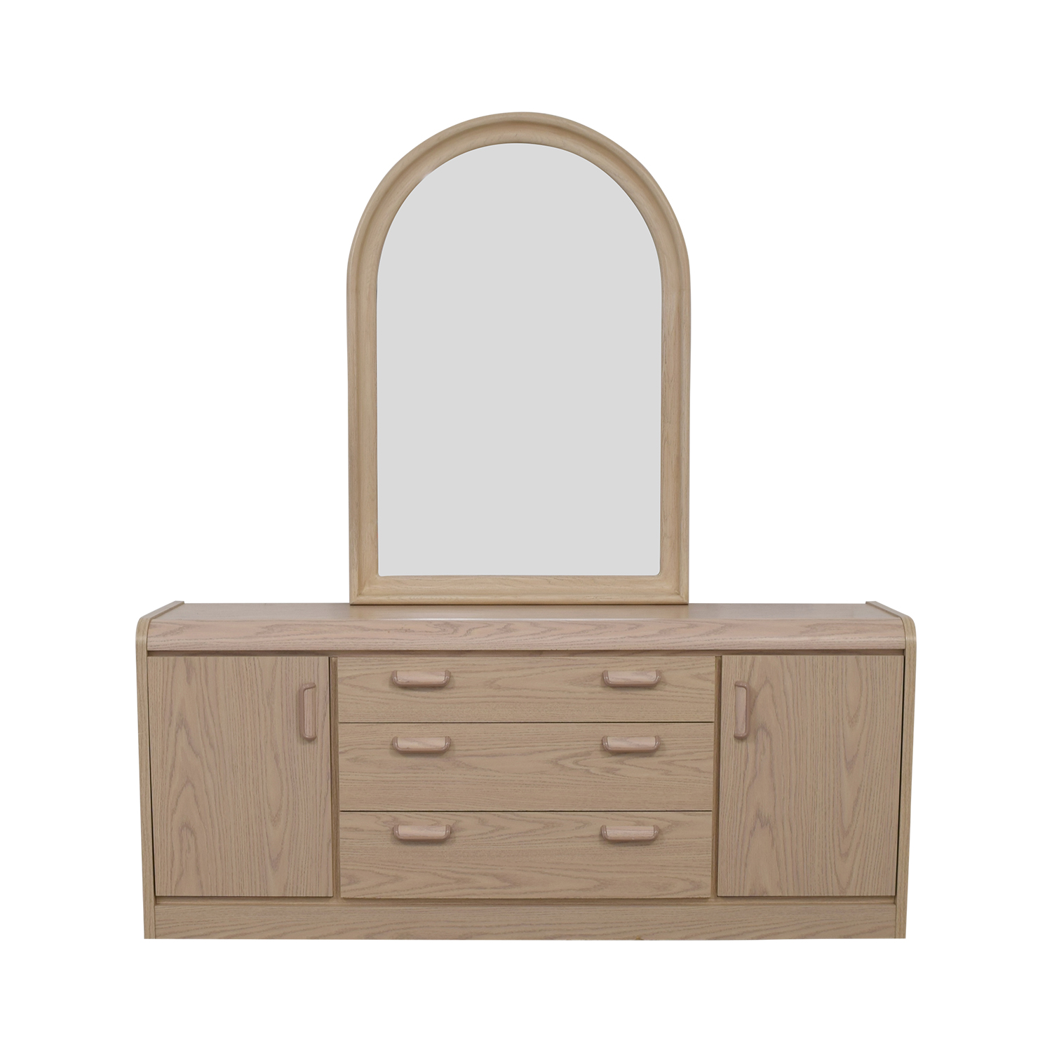 Palliser Palliser Three Drawer and Two Cabinet Dresser with Mirror Storage