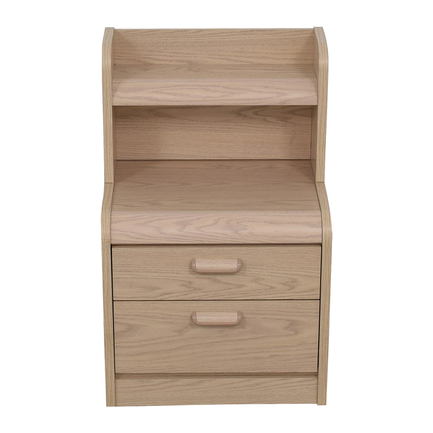 shop Palliser Two-Drawer Nightstand with Hutch and Light Palliser End Tables
