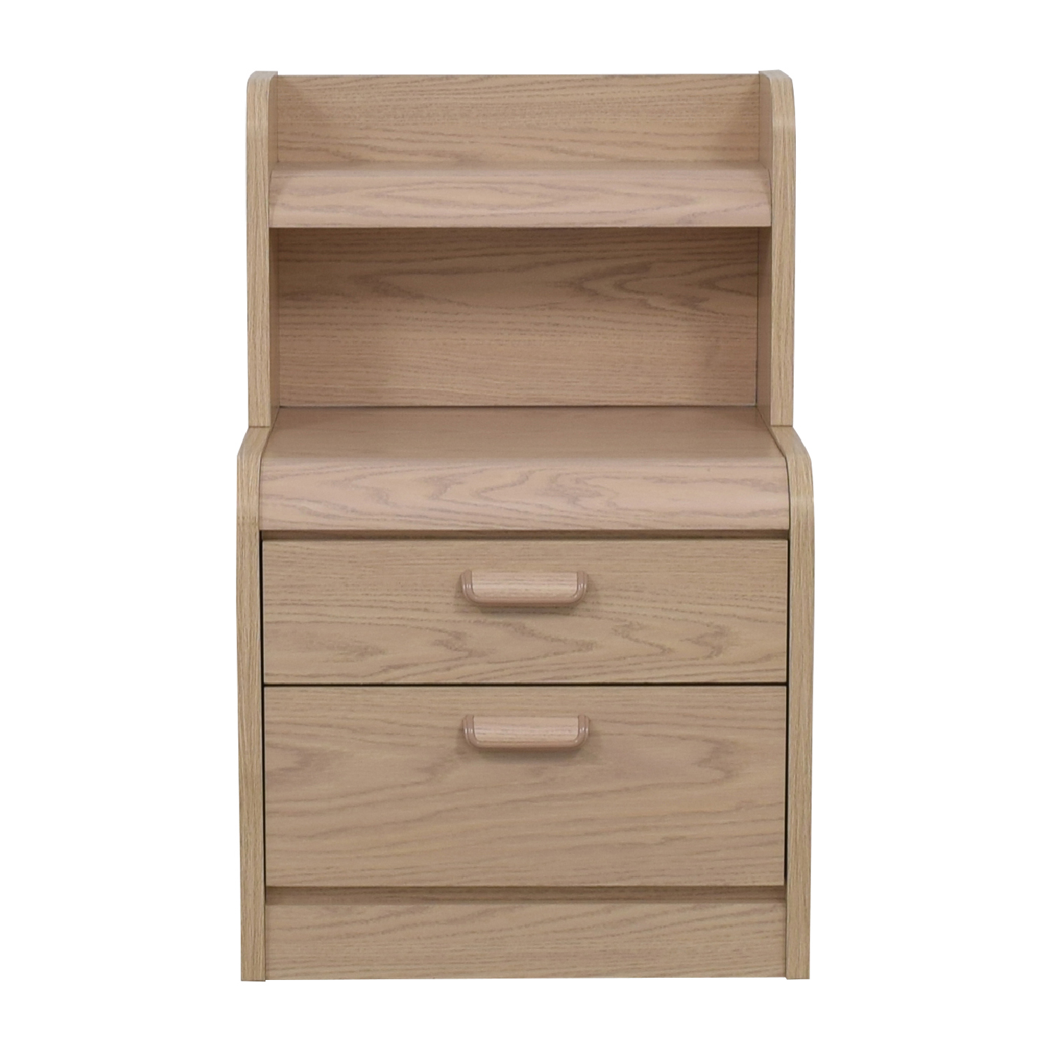 Palliser Palliser Two-Drawer Nightstand with Hutch and Light for sale