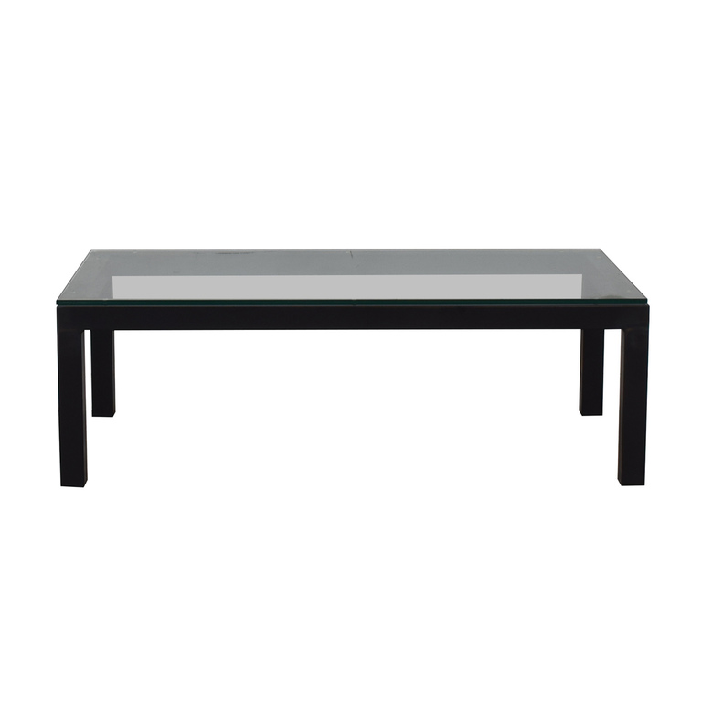 shop Room & Board Room & Board Black and Glass Coffee Table online