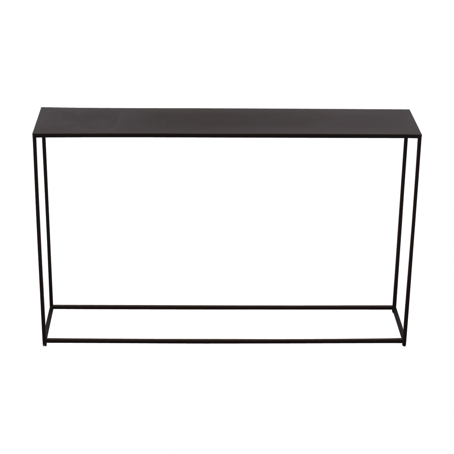 Black Console Table used