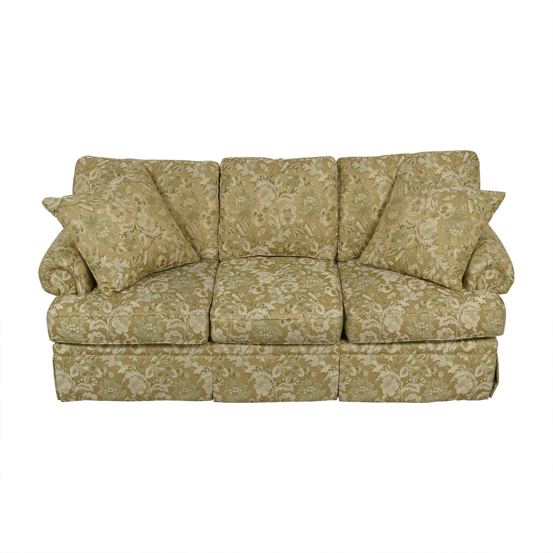 Drexel Heritage Drexel Heritage Natalie Gold Floral Three-Cushion Sofa used
