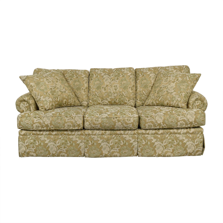 Drexel Heritage Drexel Heritage Natalie Gold Floral Three-Cushion Sofa