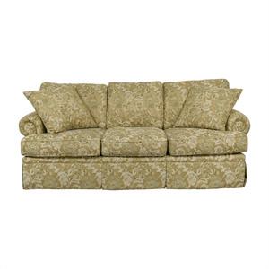 Drexel Heritage Drexel Heritage Natalie Gold Floral Three-Cushion Sofa nj