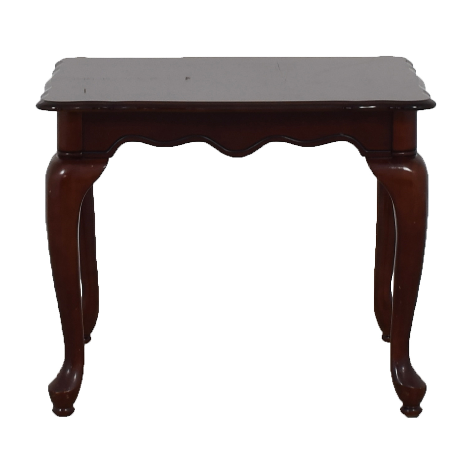 Dovetailed Carved Wood End Table sale