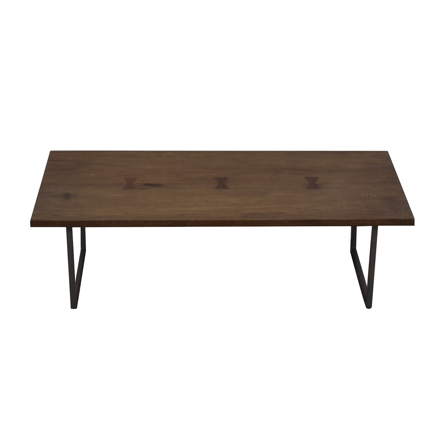 CB2 CB2 Rustic Wood and Metal Coffee Table nyc