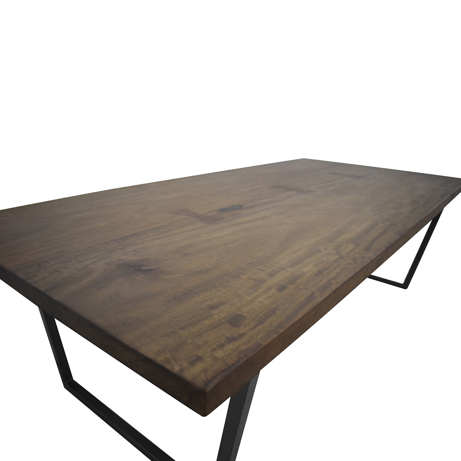 Super 89 Off Cb2 Cb2 Rustic Wood And Metal Coffee Table Tables Machost Co Dining Chair Design Ideas Machostcouk