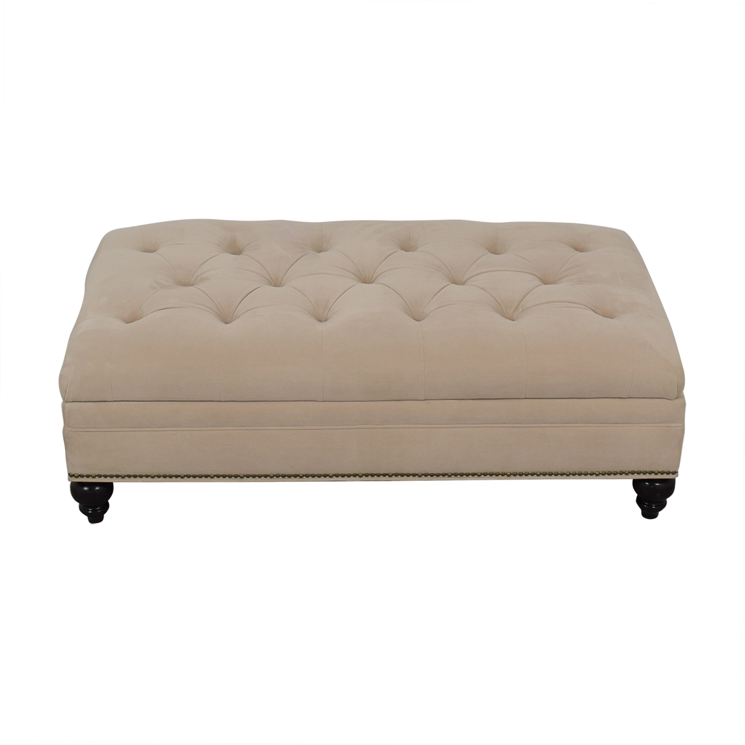shop Jonathan Louis White Tufted Storage Ottoman Jonathan Louis Chairs