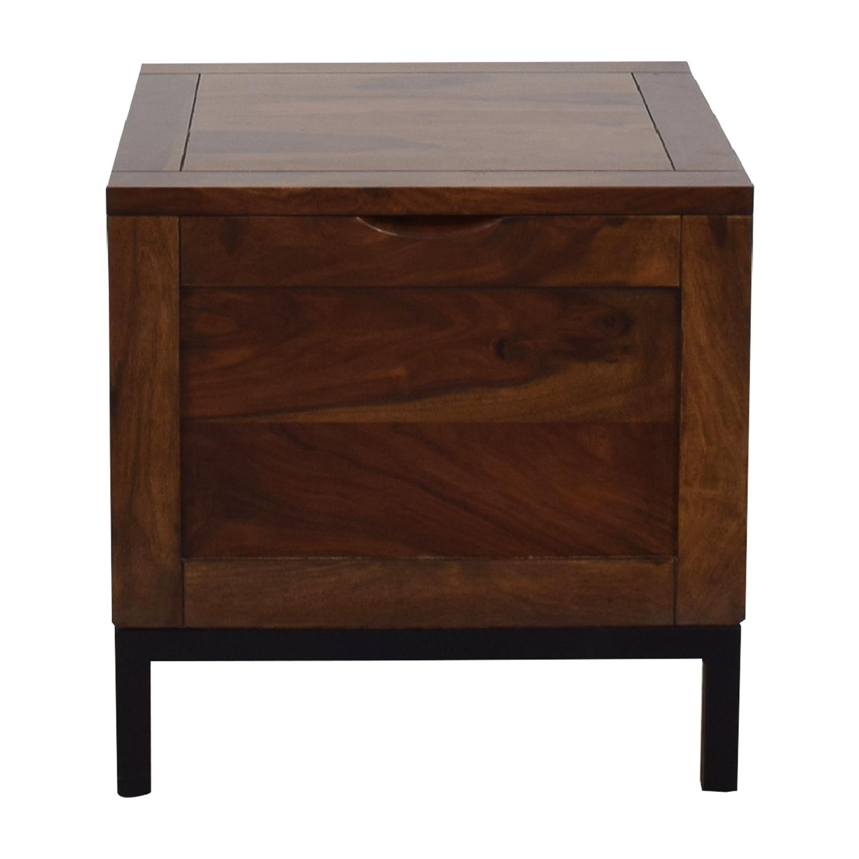 62% OFF   Crate U0026 Barrel Crate U0026 Barrel Tucker Side Trunk Table / Tables