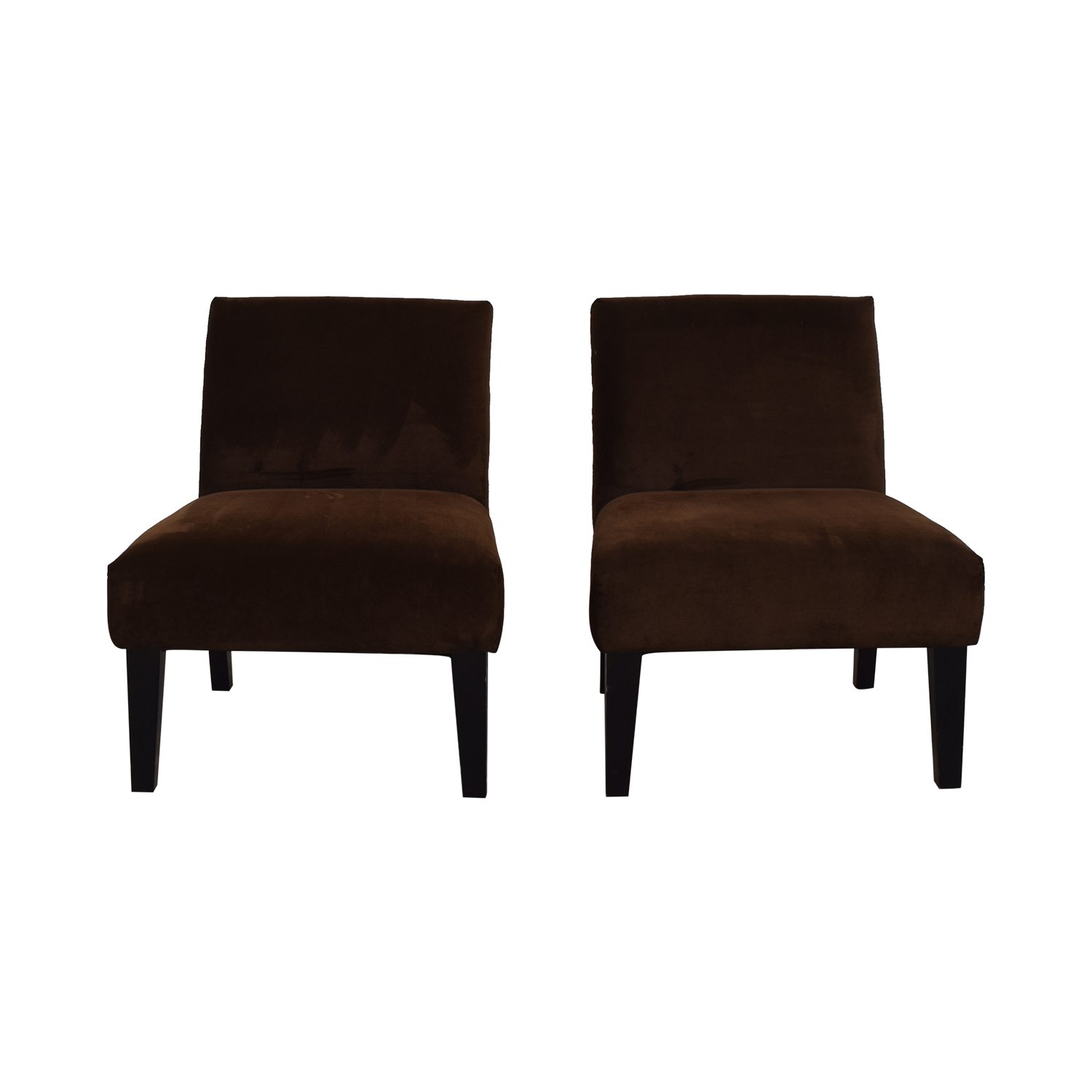 Brown Armless Side Chairs