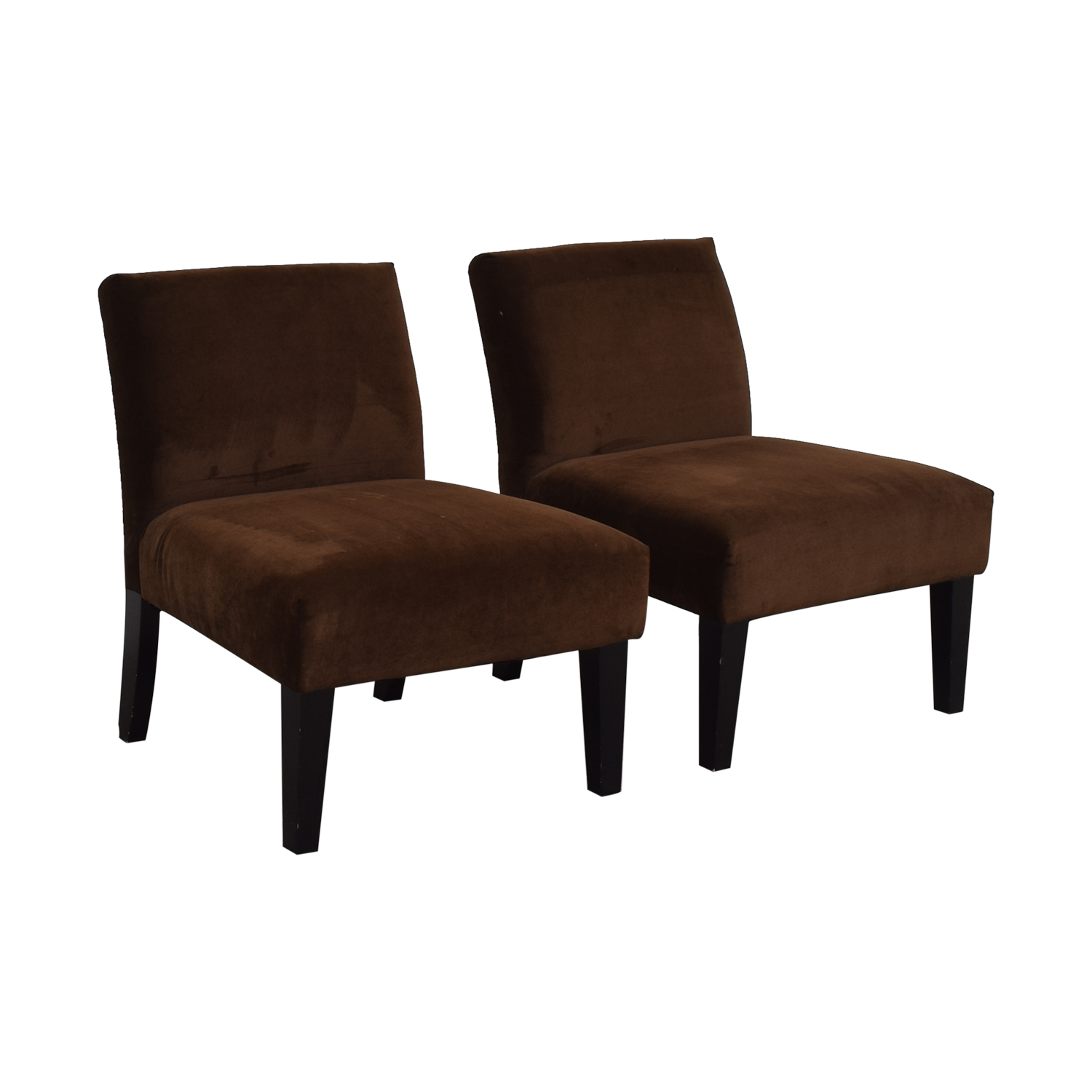 Brown Armless Side Chairs / Accent Chairs