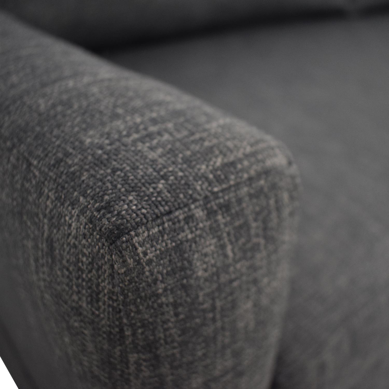 The Sofa Company The Sofa Company Custom Grey Single Cushion Couch used