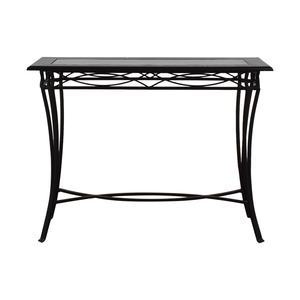 Target Target Black Metal and Glass Console Table dimensions