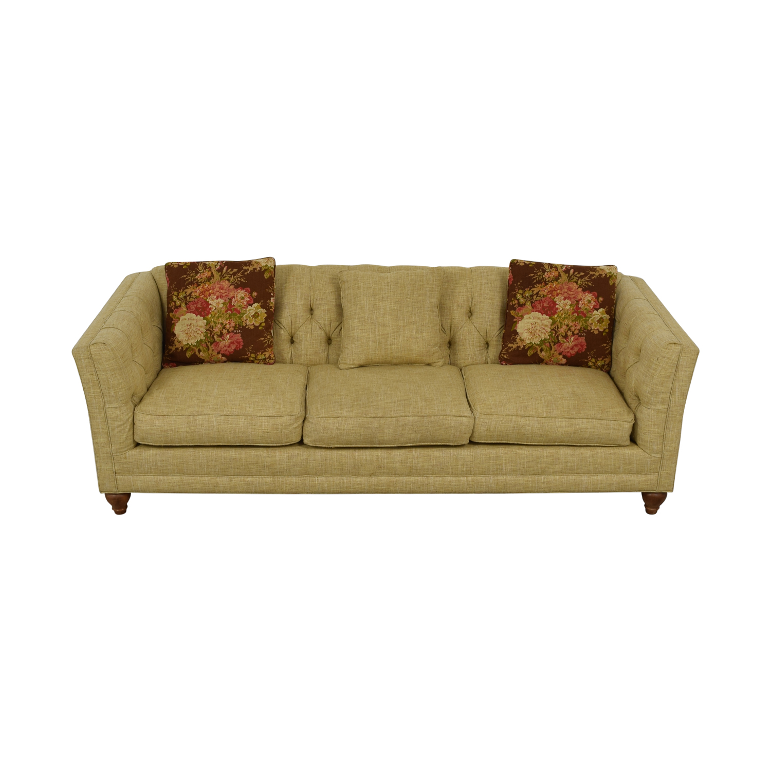 buy Country Willow Tan Three-Cushion Sofa Country Willow Classic Sofas