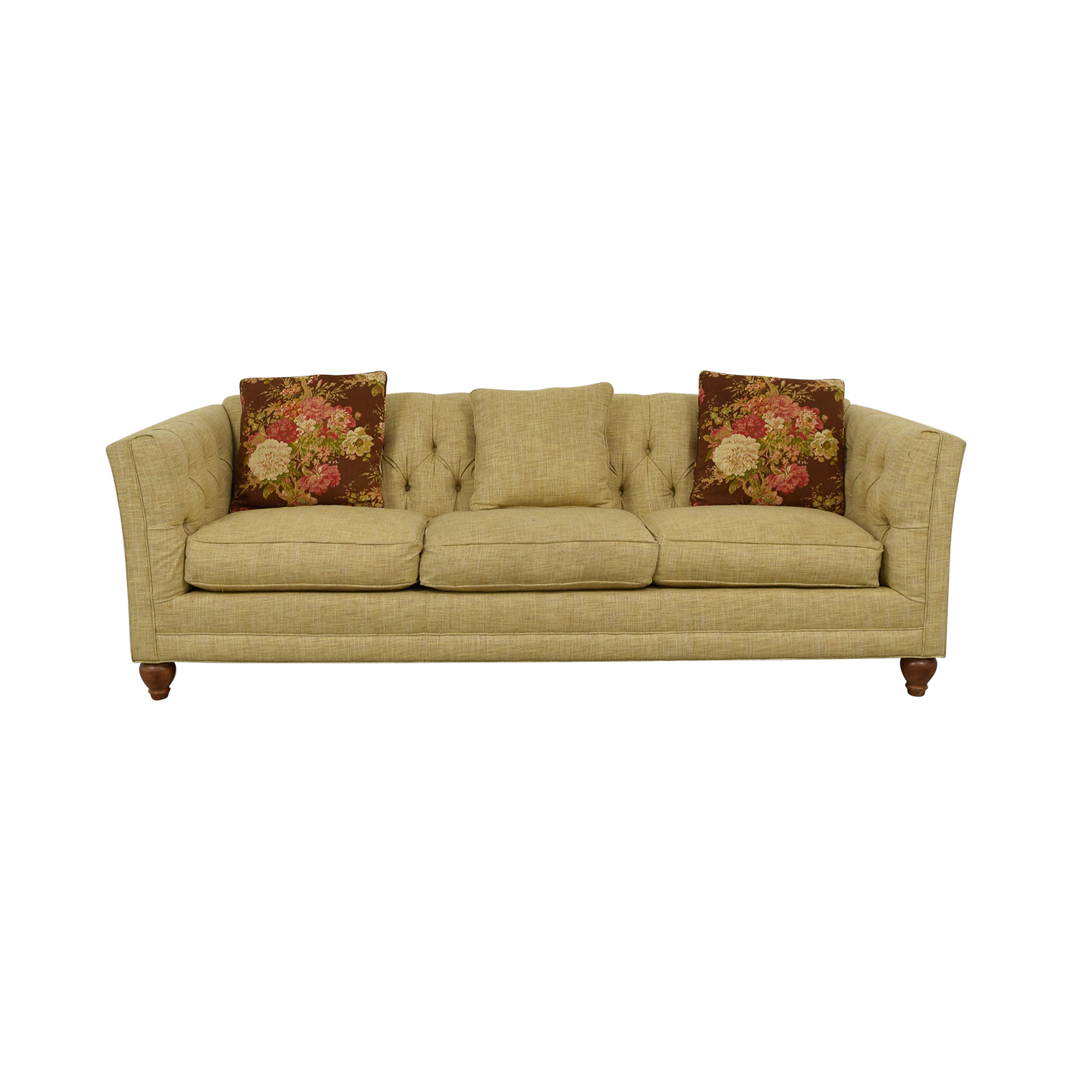 Country Willow Country Willow Tan Three-Cushion Sofa second hand