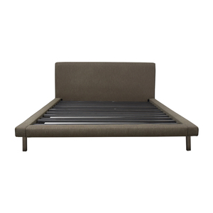 Room & Board Room & Board Grey Upholstered Platform Queen Bed Frame dimensions