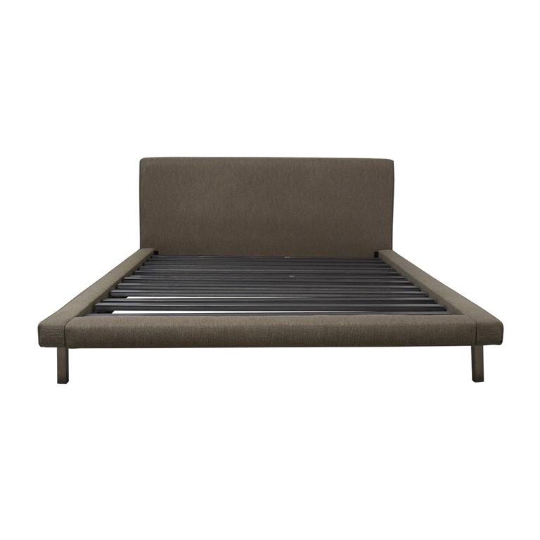 Room & Board Room & Board Grey Upholstered Platform Queen Bed Frame dimensions