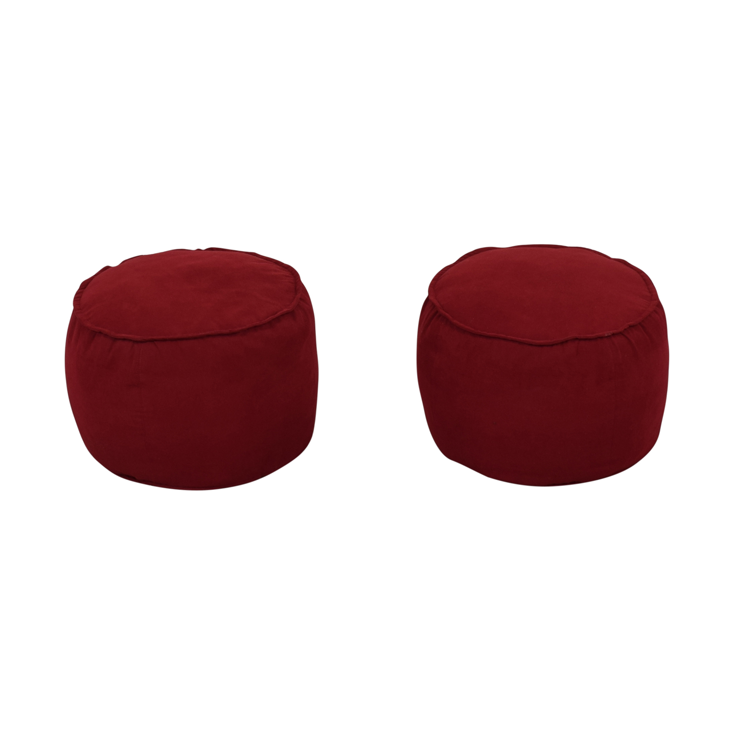 Room & Board Red Round Ottomans / Chairs