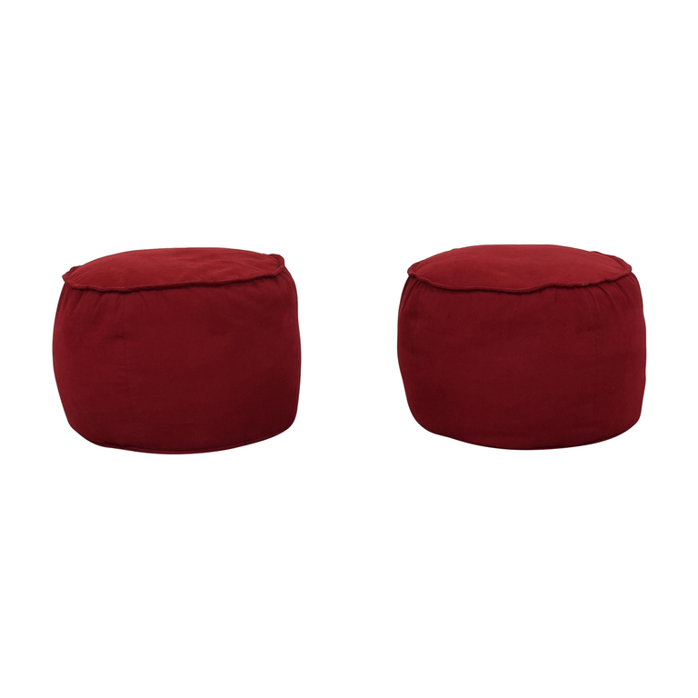 Room & Board Room & Board Red Round Ottomans discount
