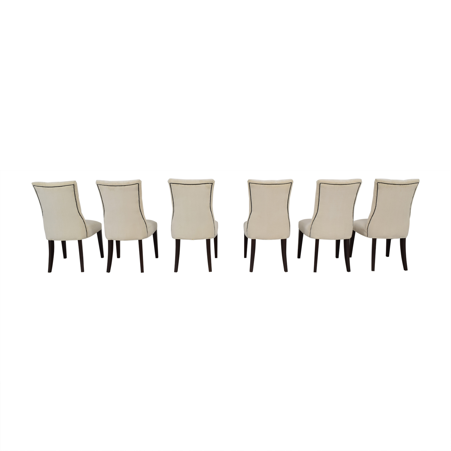 Restoration Hardware Restoration Hardware Martine Tufted Beige Dining Chairs nj