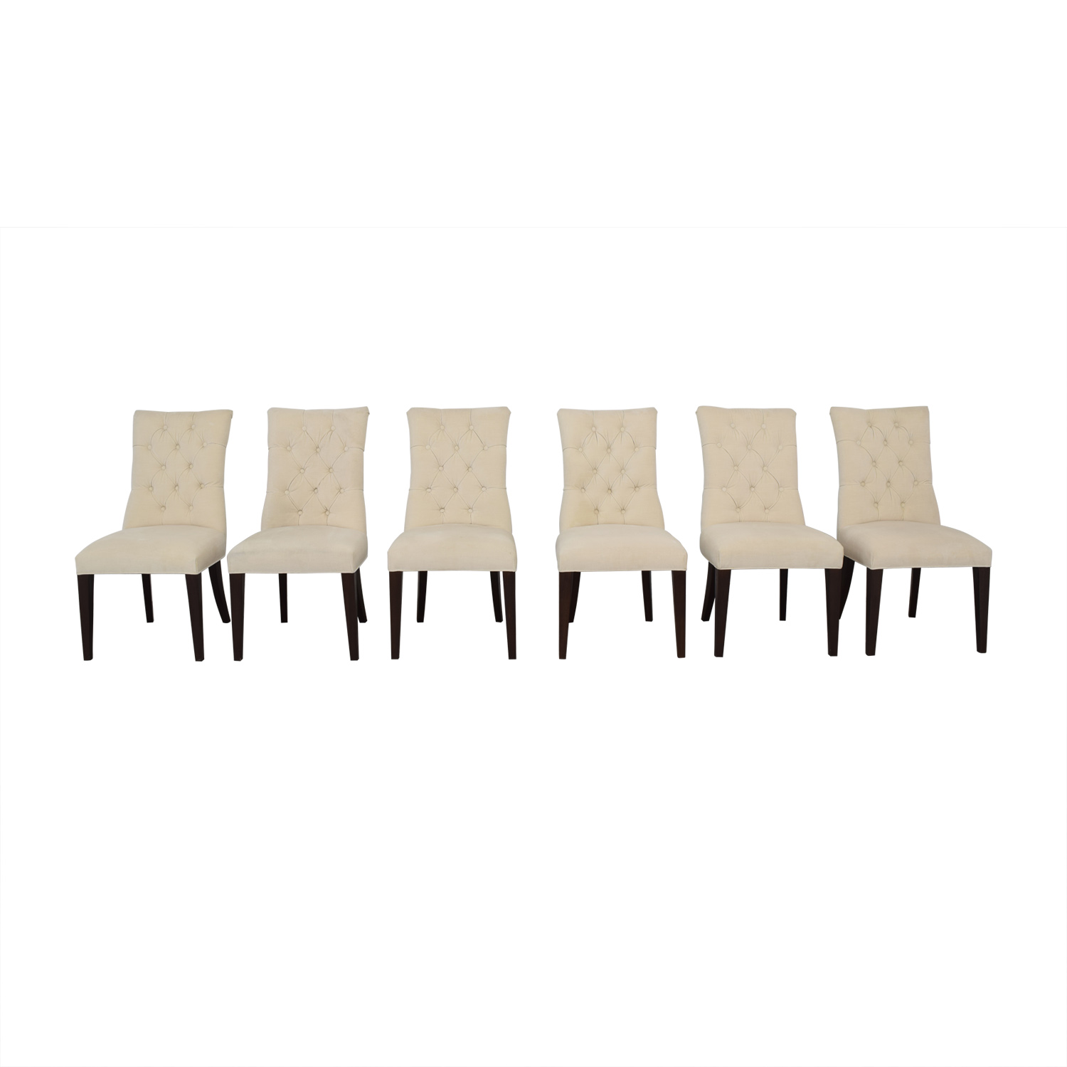 buy Restoration Hardware Martine Tufted Beige Dining Chairs Restoration Hardware