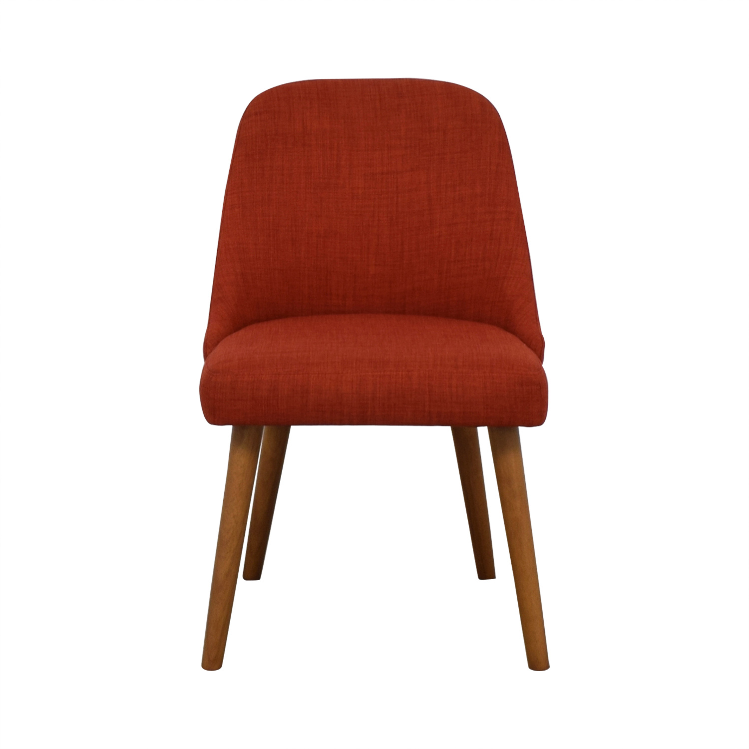 West Elm West Elm Mid-Century Heathered Weave Cayenne Dining Chairs