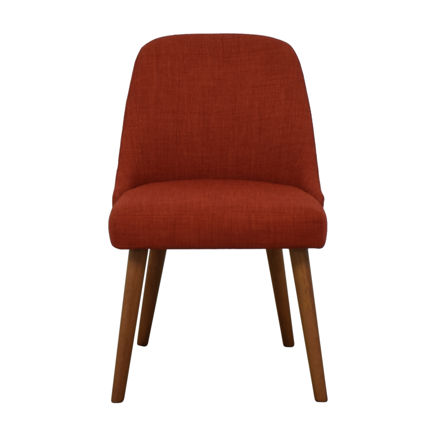 shop West Elm Mid-Century Heathered Weave Cayenne Dining Chair West Elm