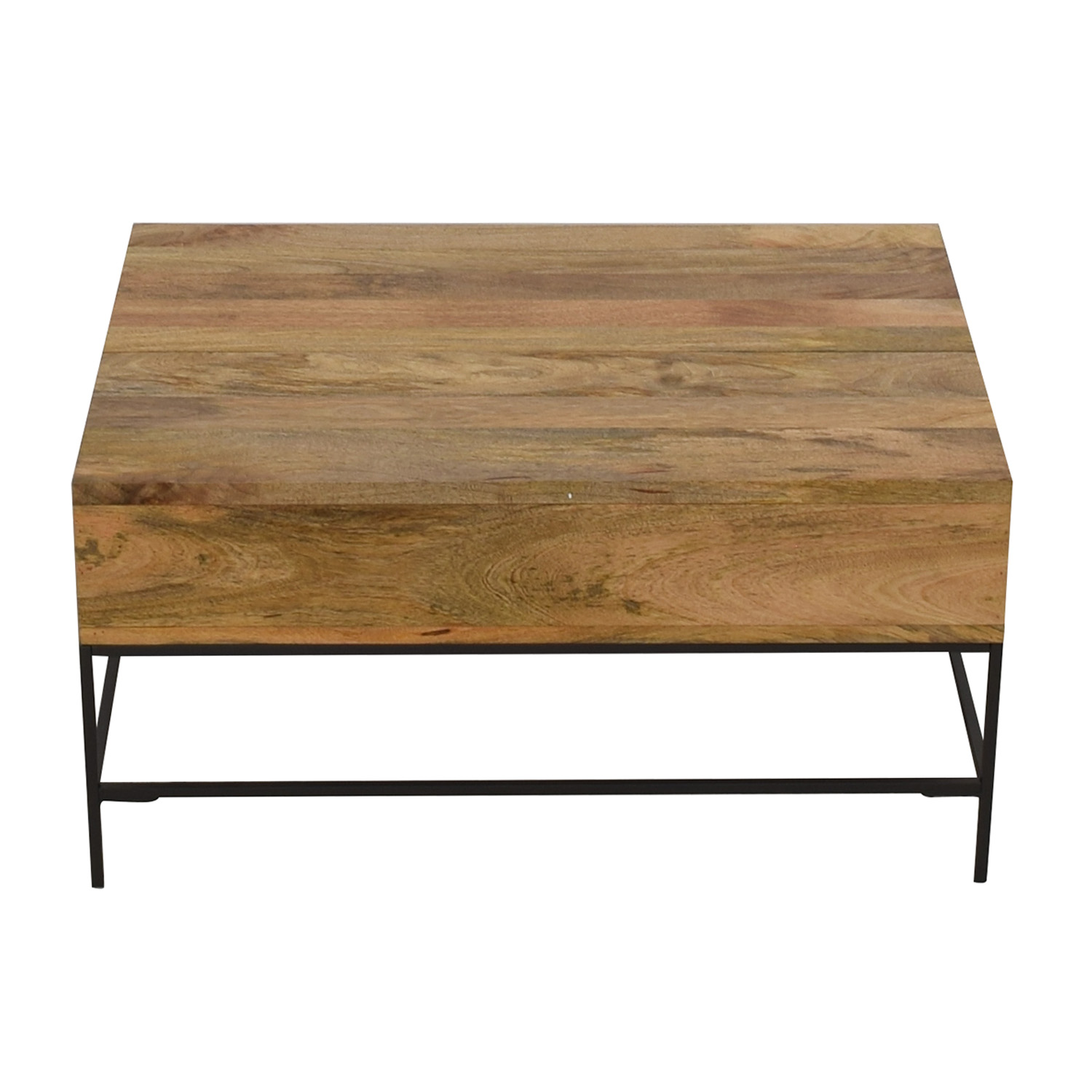 West Elm West Elm Industrial Raw Mango Storage Coffee Table nj