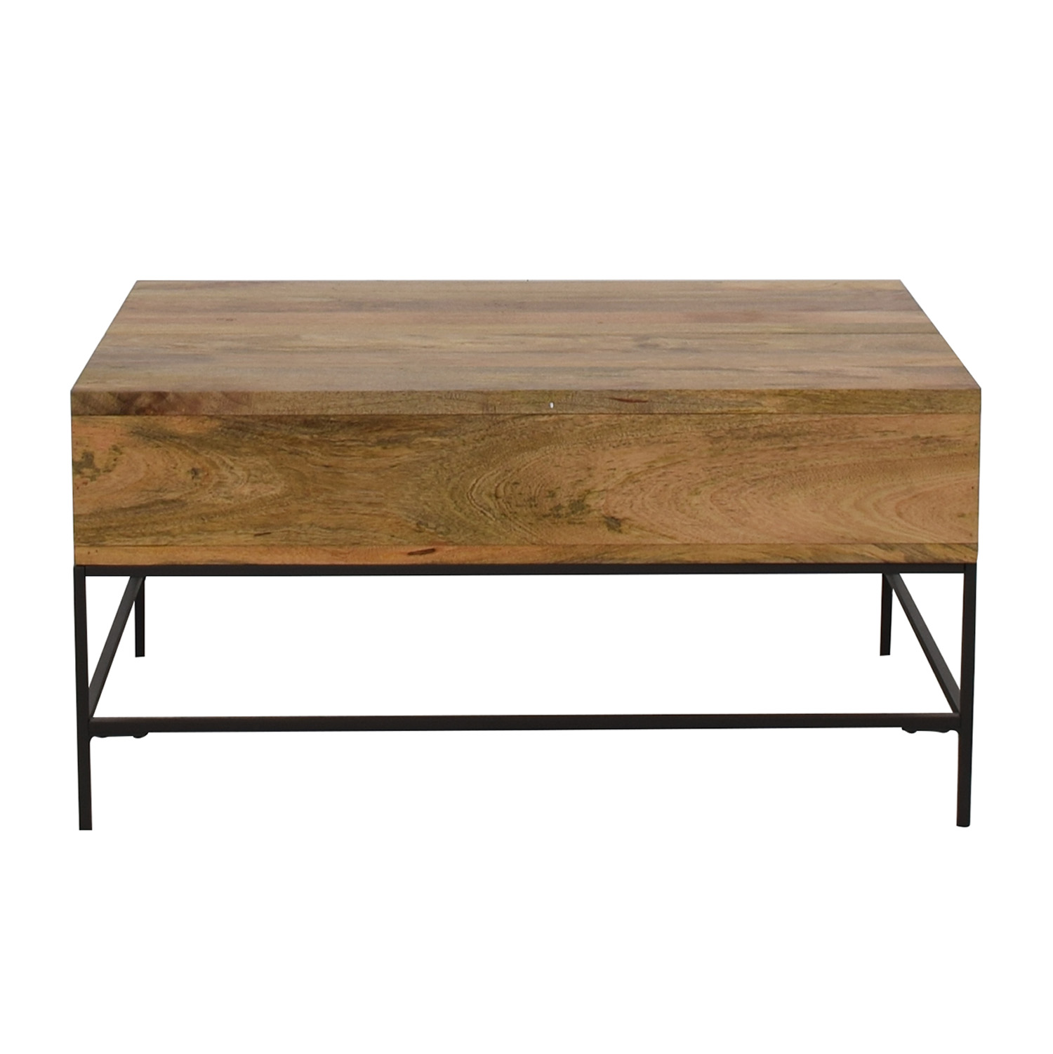 West Elm West Elm Industrial Raw Mango Storage Coffee Table price