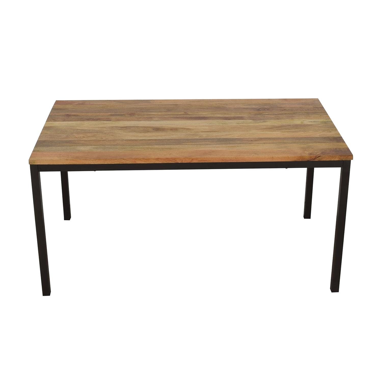 West Elm West Elm Raw Mango Box Frame Dining Table on sale