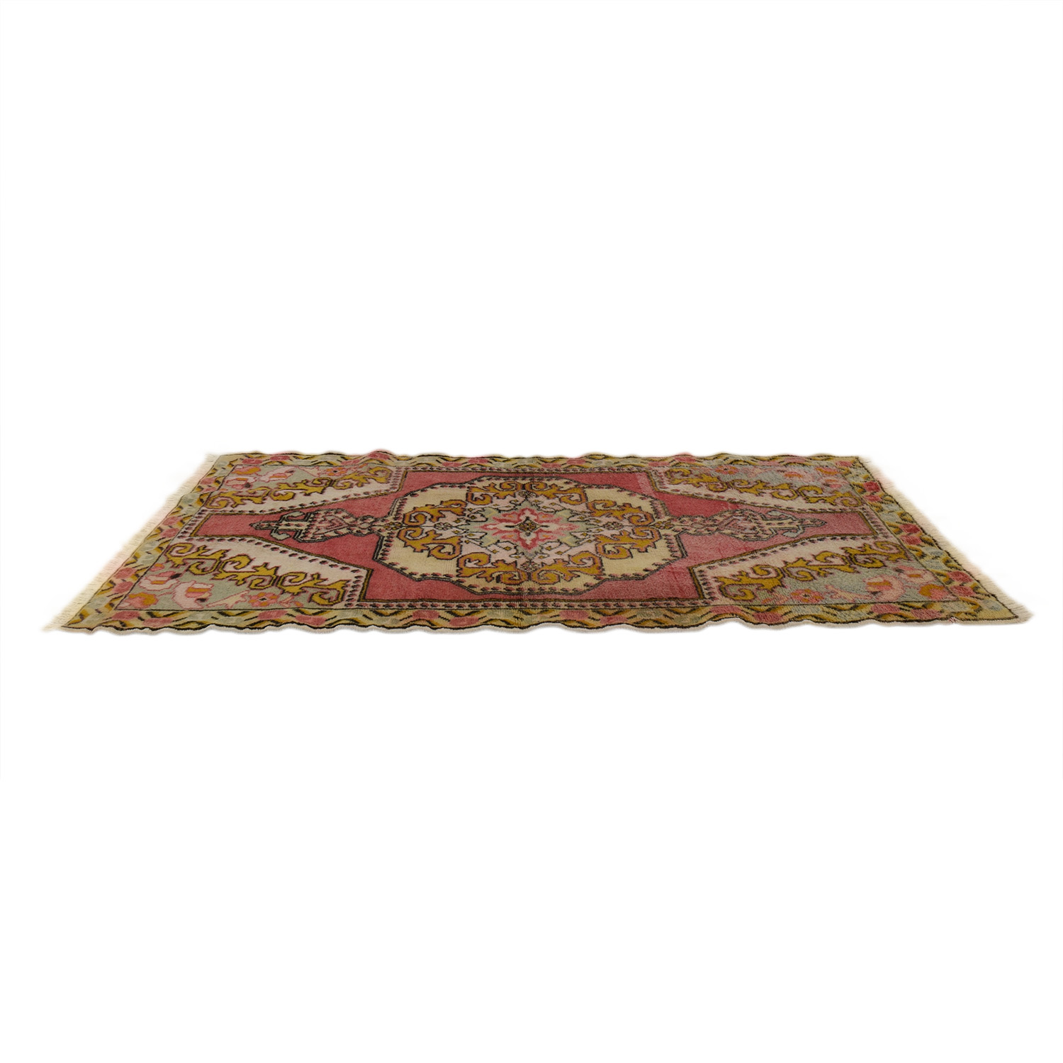 Vintage Turkish Anatolian Multi-Colored Rug Rugs
