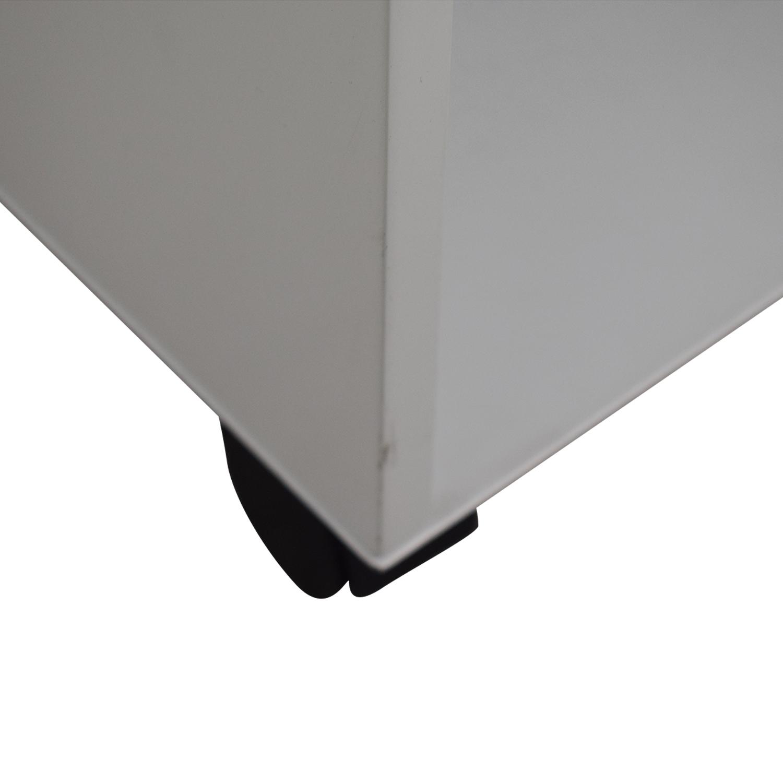 shop Herman Miller Enchord White Mobile Cabinet Herman Miller Storage