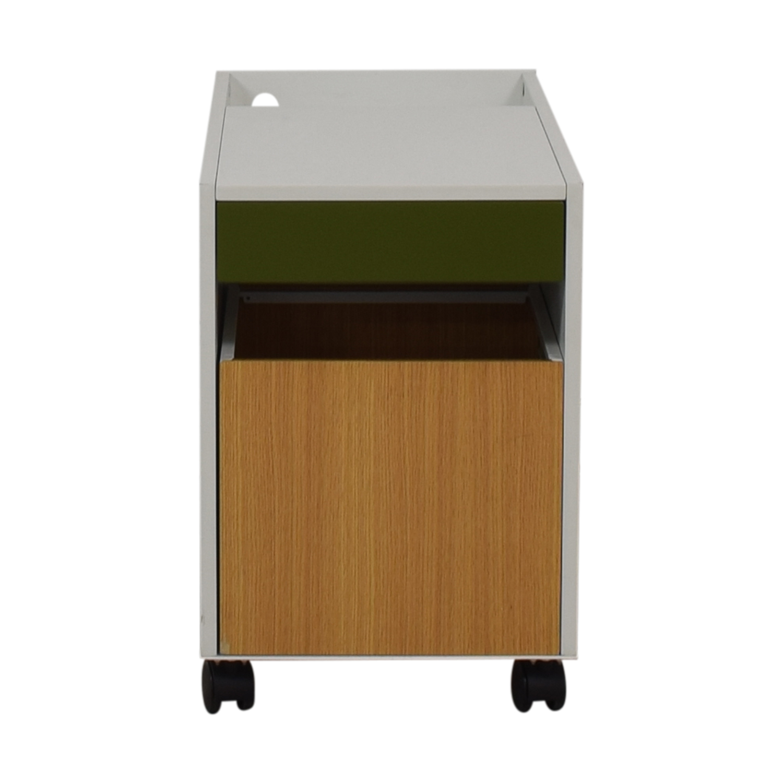 Herman Miller Herman Miller Enchord White Mobile Cabinet Storage