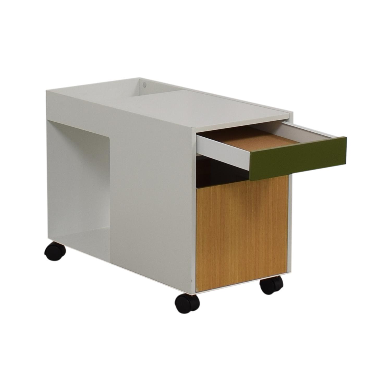 buy Herman Miller Enchord White Mobile Cabinet Herman Miller Storage