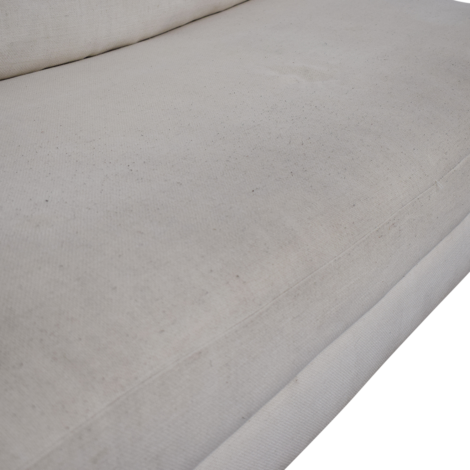 shop CB2 CB2 Piazza White Single Cushion Armless Sofa online