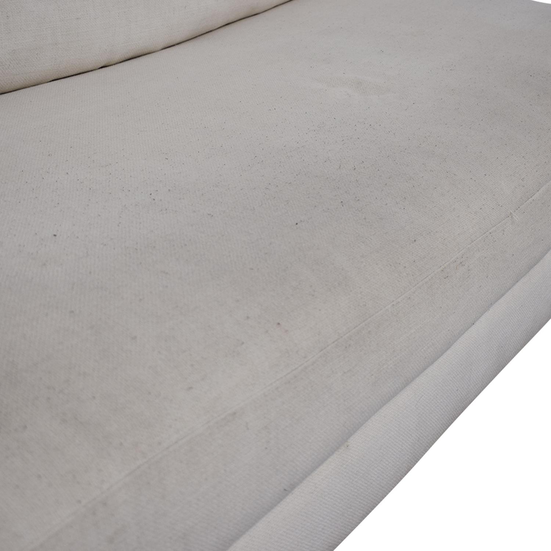 shop CB2 CB2 Piazza White Single Cushion Armless Sofa online