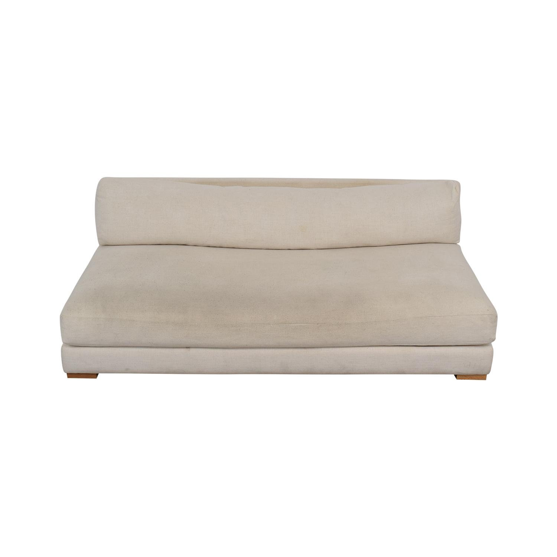 CB2 CB2 Piazza White Single Cushion Armless Sofa price