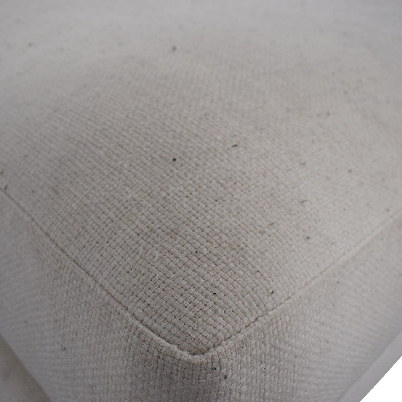 shop CB2 Piazza White Single Cushion Armless Sofa CB2 Chaises