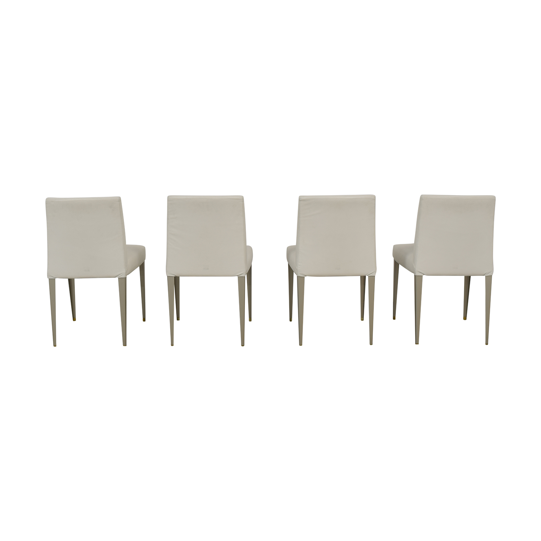 buy B&B Italia White Leather Chairs B&B Italia