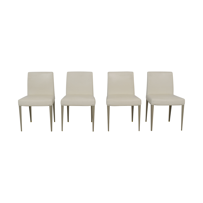 shop B&B Italia B&B Italia White Leather Chairs online