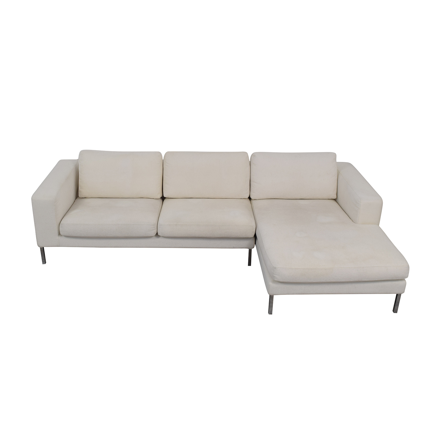 buy Design Within Reach White Chaise Sectional Design Within Reach Sofas
