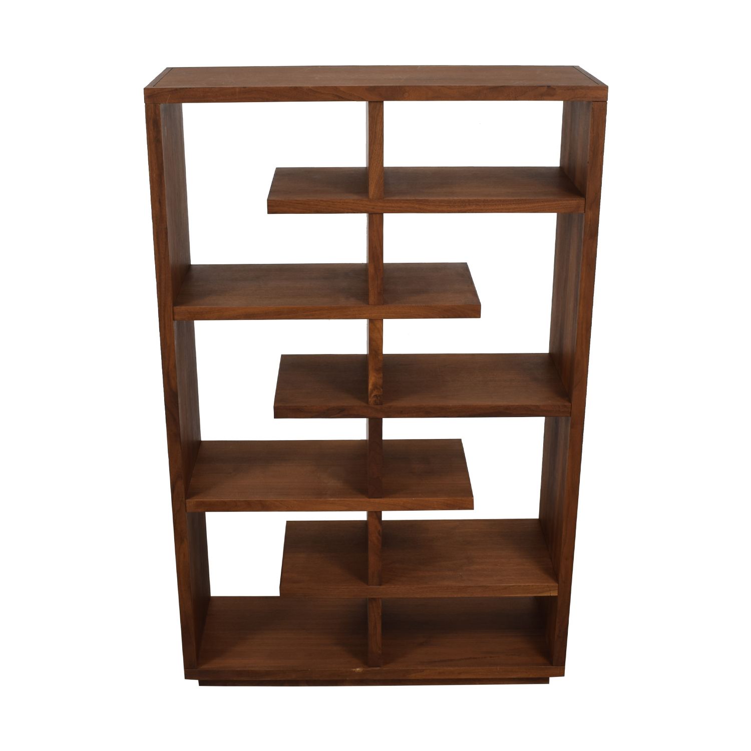 Crate & Barrel Elevate Walnut Bookcase Crate & Barrel