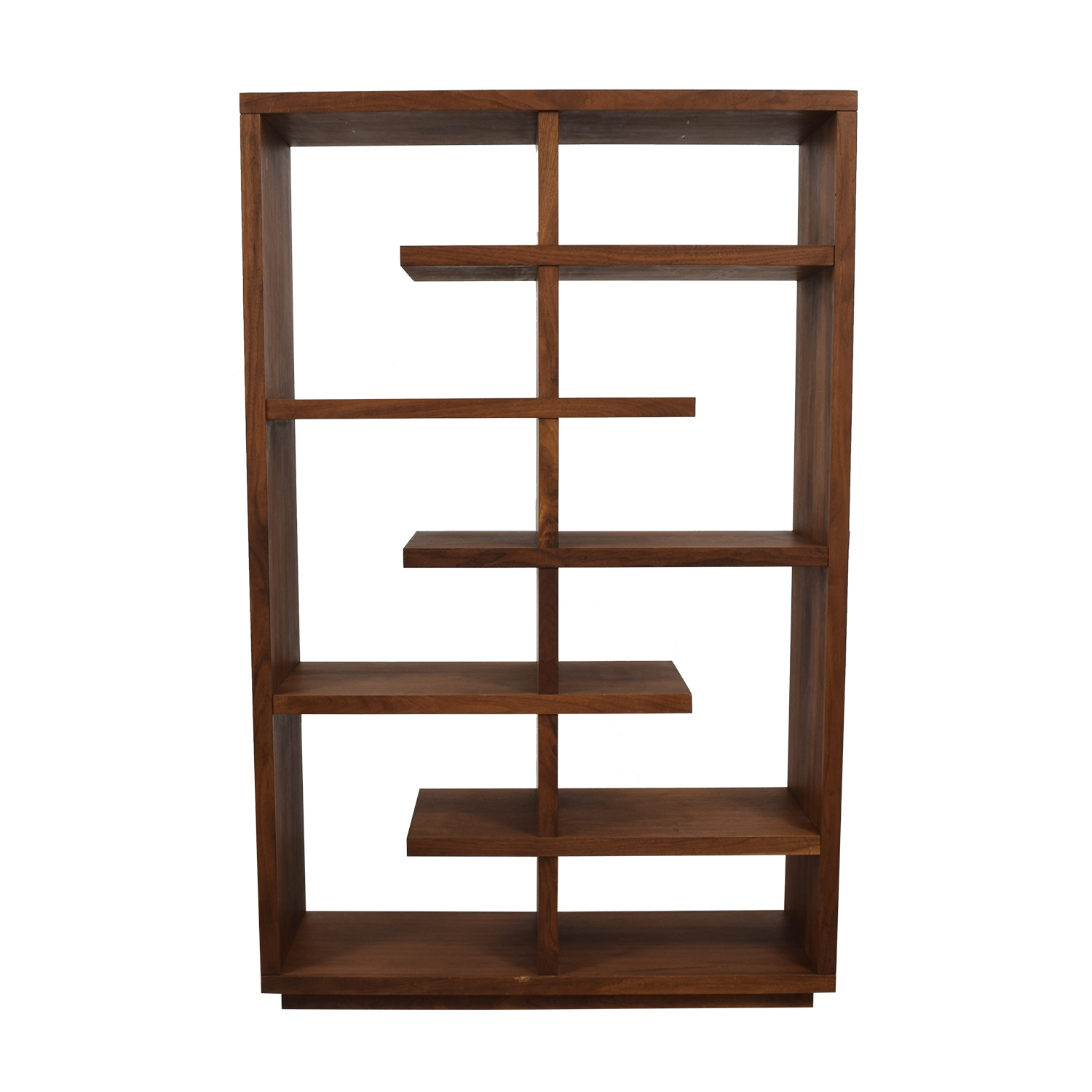buy Crate & Barrel Elevate Walnut Bookcase Crate & Barrel Bookcases & Shelving