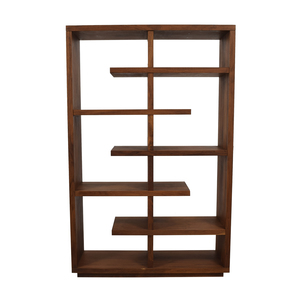 Crate & Barrel Crate & Barrel Elevate Walnut Bookcase dimensions