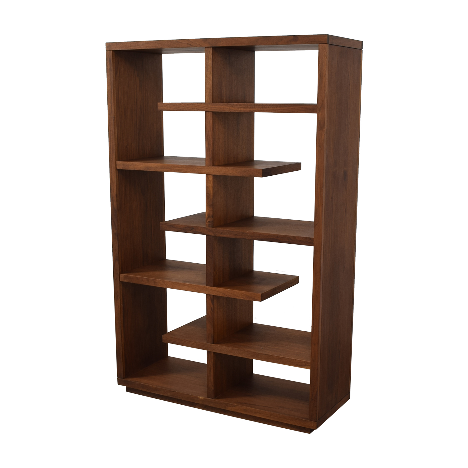 Crate & Barrel Crate & Barrel Elevate Walnut Bookcase Bookcases & Shelving