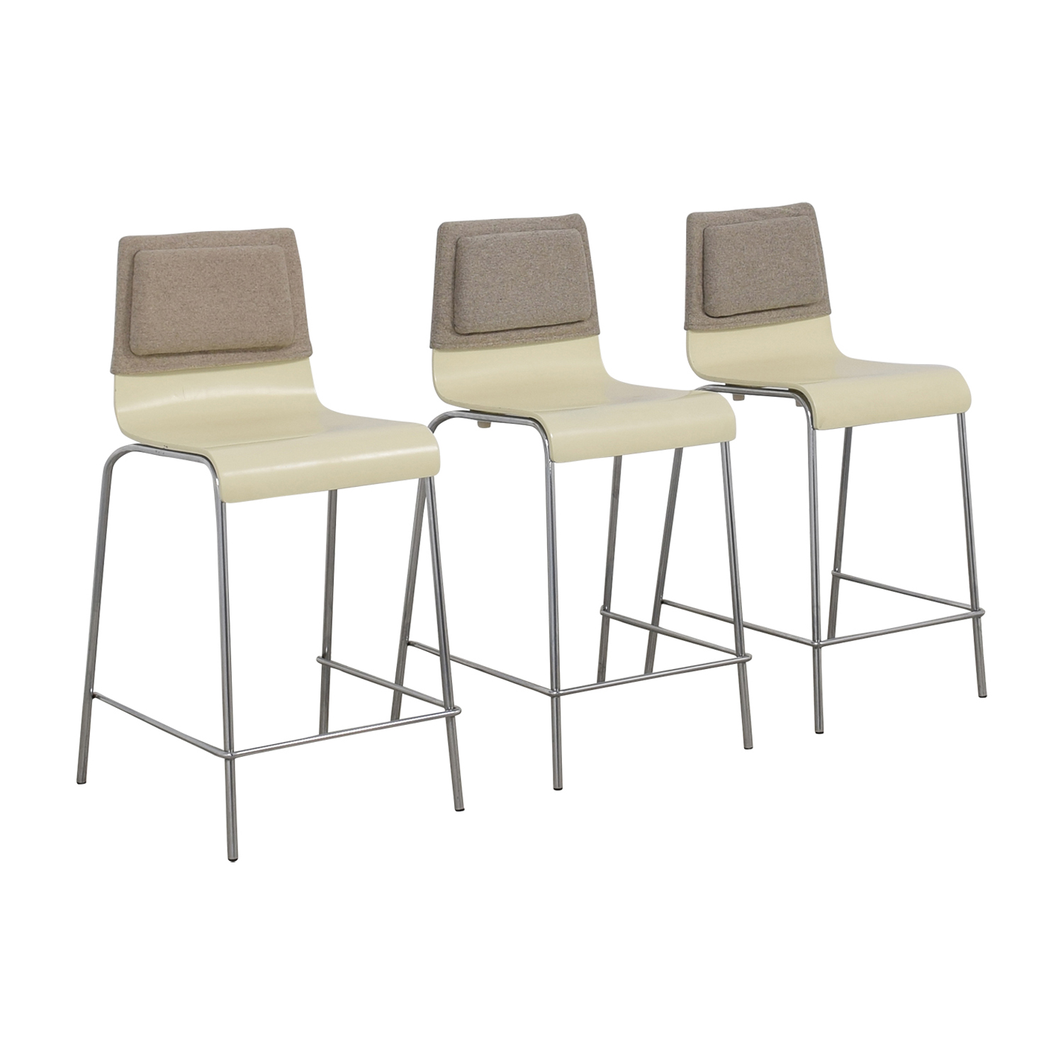 buy  White and Grey Stools with Back Felt Pads online