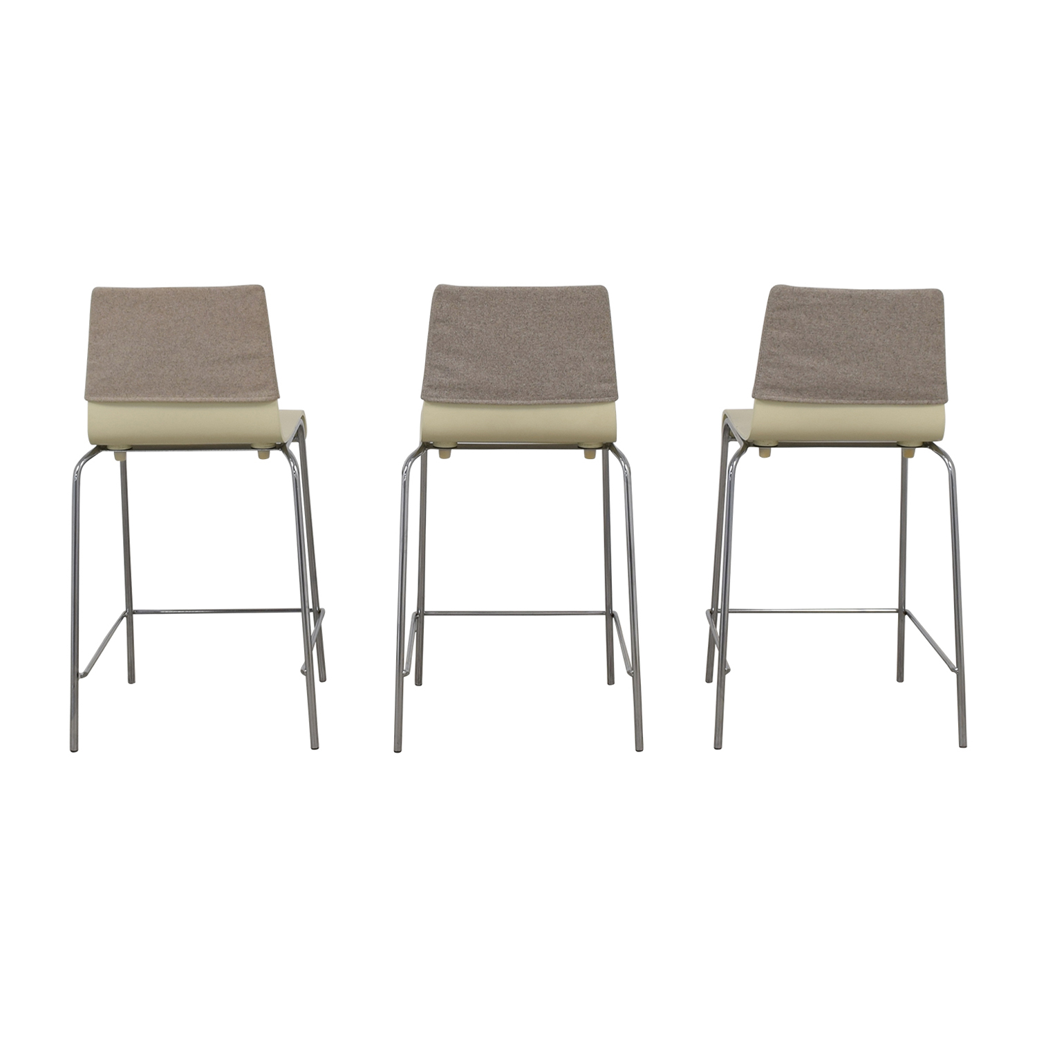 White and Grey Stools with Back Felt Pads