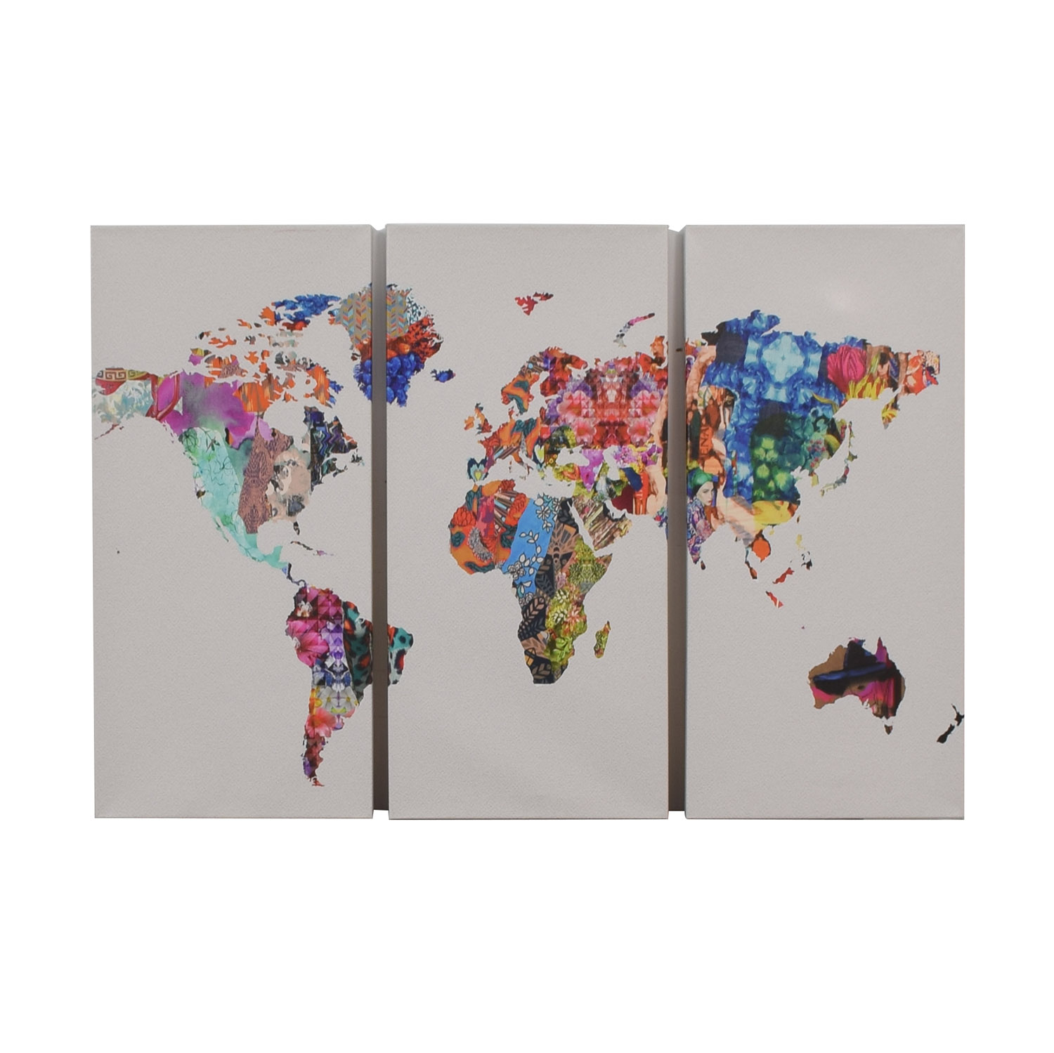 buy Oliver Gal Mapamundi Triptych on Wrapped Canvas Oliver Gal